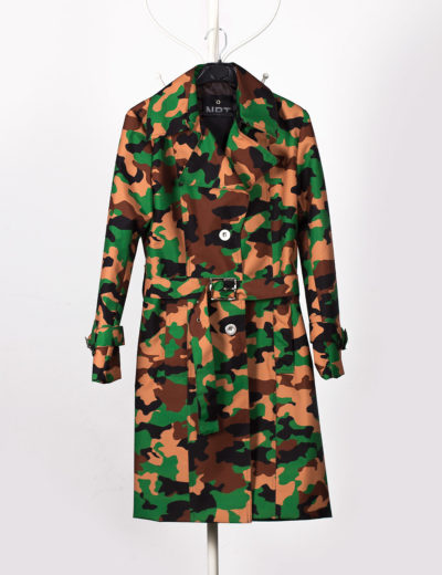 Camouflage  Waterproof Trench Coat