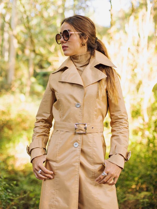 Camel Waterproof Trench Coat