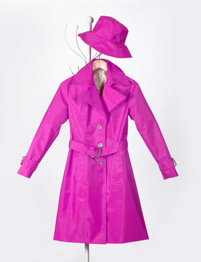 Fuchsia Waterproof Trench Coat