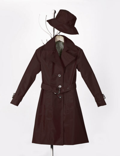Dark Brown Waterproof Trench Coat