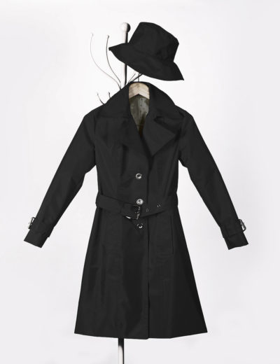Black Waterproof Trench Coat