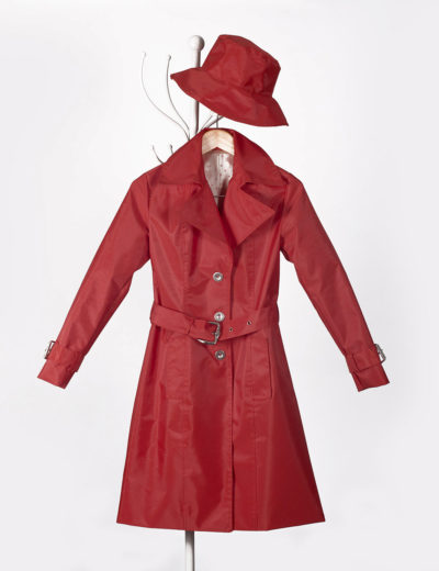 Red Waterproof Trench Coat