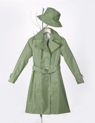 Khaki Green Waterproof Trench Coat